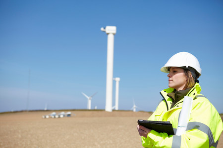 Wind farm and female project manager