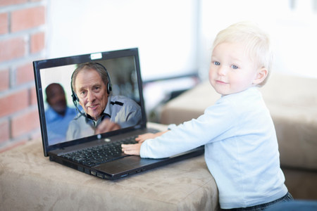 parlours: Baby boy distracted on video call