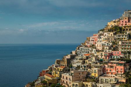 Houses on hillside,Positano,Amalfi Peninsula,Campania,Italy