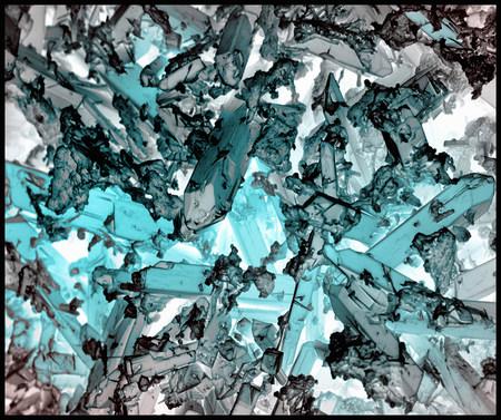 corrosion: Indicolite corrosion crystals,inverted color,SEM