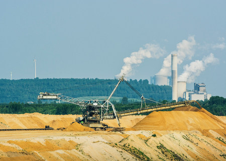 Brown coal extraction,Juchen,Germany