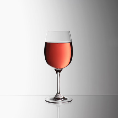 refreshed: Glass of rosé wine