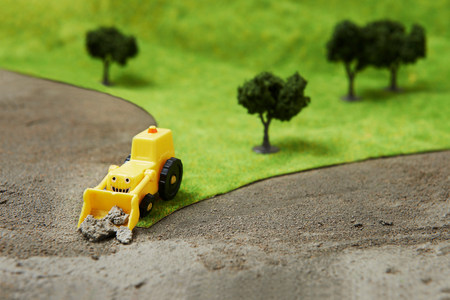 Toy digger on model landscape LANG_EVOIMAGES