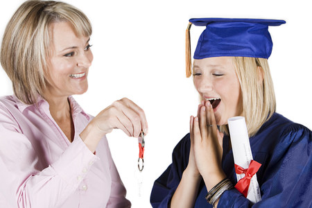 16 to 17 year olds: Mother and graduating daughter