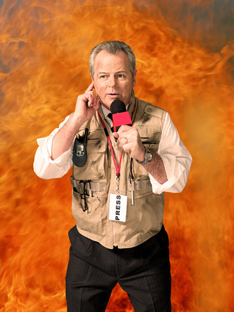 boomers: News presenter and fire