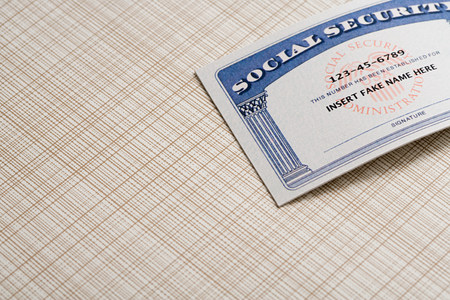 single word: Fake social security card LANG_EVOIMAGES