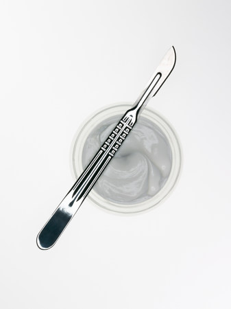 scalpels: Scalpel and cosmetic cream
