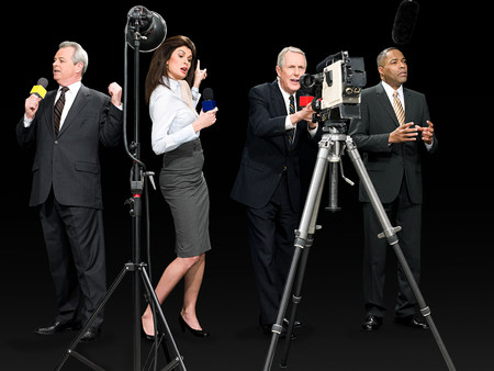chic woman: News presenters