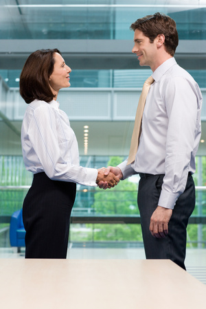 complicity: Businesspeople shaking hands