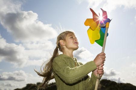 Girl with a pinwheel