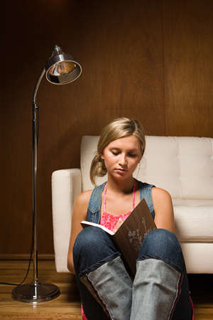 parlours: Teenage girl with diary