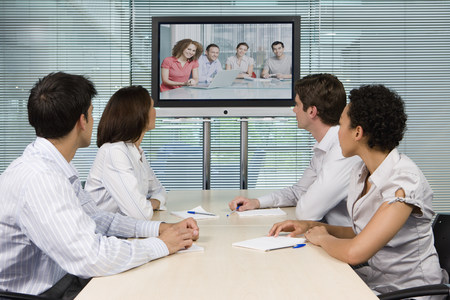 information age: People in a meeting