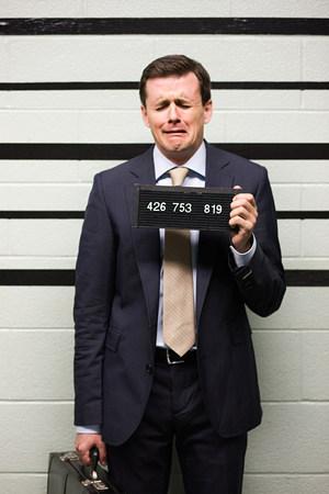 mugshot: Mugshot of businessman