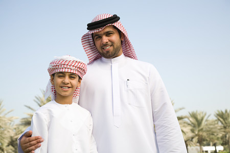 multi age: A portrait of a father and son