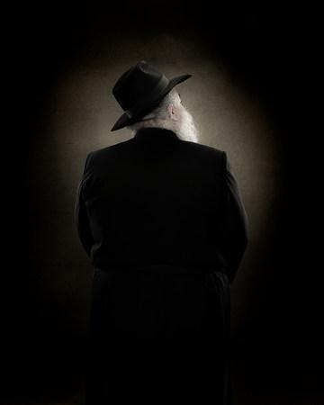 rabbi: Rear view of a rabbi