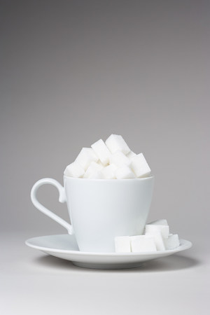 unhealthiness: A cup full of sugar lumps