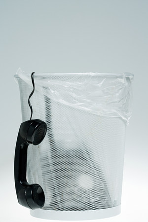 agitation: Telephone in a bin LANG_EVOIMAGES