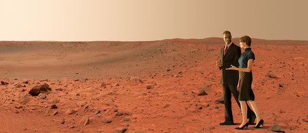 Businesspeople on mars LANG_EVOIMAGES