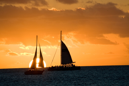 Sunset in Key West.