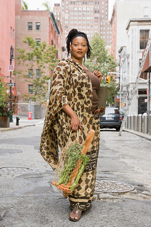 new age: Portrait of a mature african woman