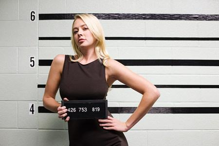 mugshot: Mugshot of female criminal LANG_EVOIMAGES