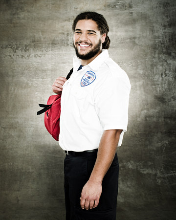 Portrait of a paramedic LANG_EVOIMAGES