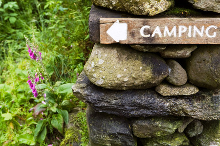 lake district: Camping sign