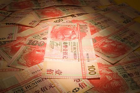 shadowed: Hong kong banknotes