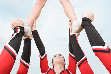 black cheerleader: Cheerleaders performing routine