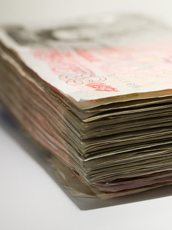 arrears: Fifty pound notes