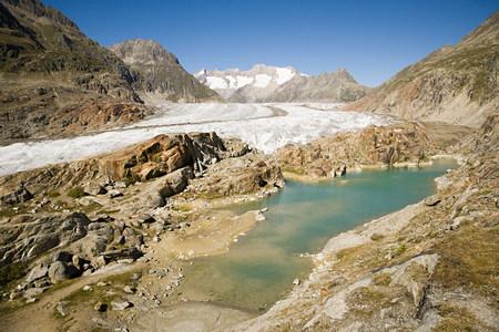 aletsch: Aletsch glacier in switzerland