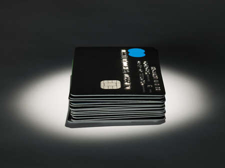 borrowing: Stack of credit cards LANG_EVOIMAGES