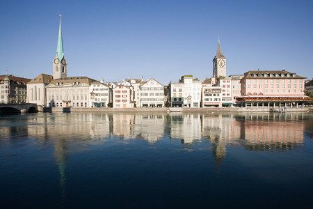 townscape: Architecture and the river limmat in zurich LANG_EVOIMAGES