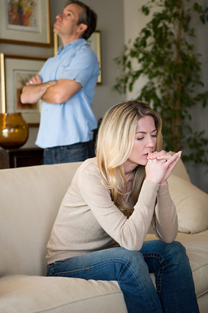 Couple having relationship difficulties