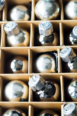 box size: Christmas baubles