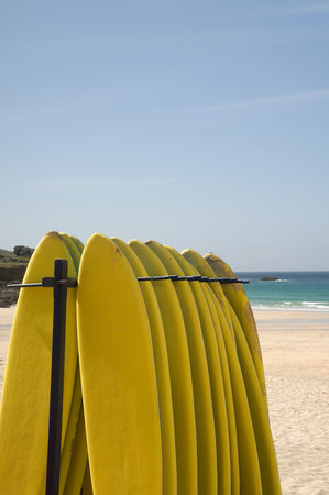 Surfboards at st ives in cornwall LANG_EVOIMAGES
