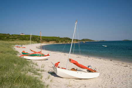 Higher town beach on st martins in the isles of scilly LANG_EVOIMAGES