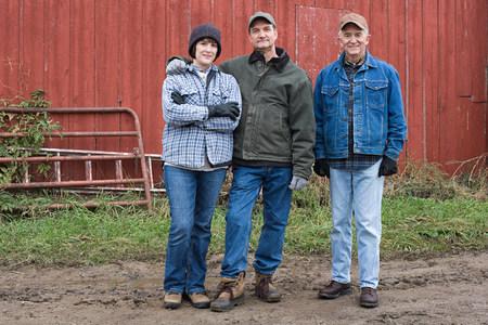 farmyards: Three farmers