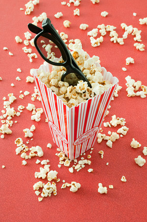 cropped shot: Popcorn and glasses