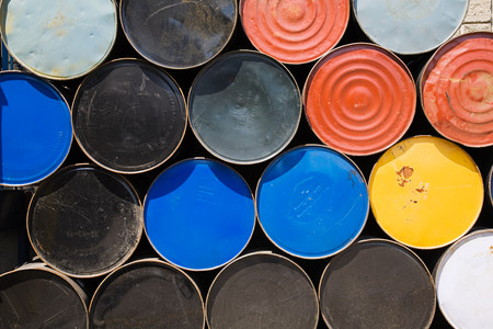 rounded circular: Oil drums