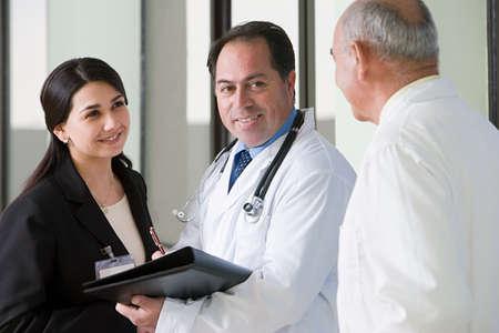 corridors: Doctors talking