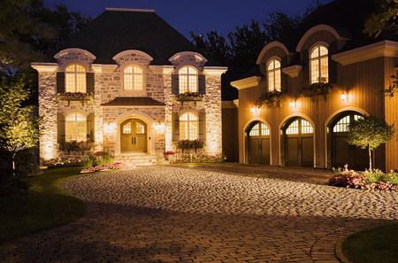 Large house illuminated