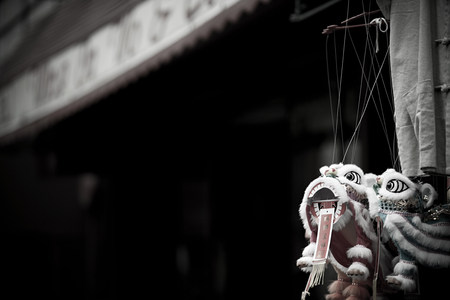 the americas: Chinese dragon in china town new york