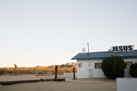 joshua tree national park: Church in joshua tree town california LANG_EVOIMAGES