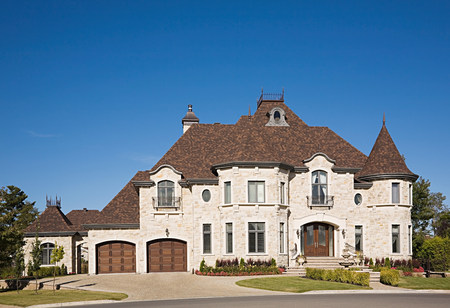 Exterior of a large house