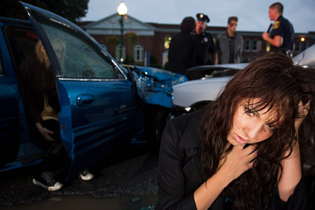 16 to 17 year olds: Teenage girl involved in a road accident