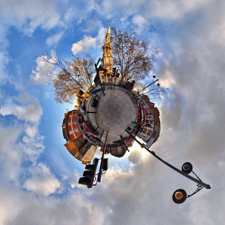 small world: Shoreditch with little planet effect
