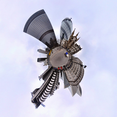 panoramas: City of london with little planet effect