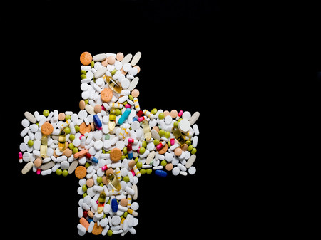 reliever: Cross made from pills LANG_EVOIMAGES