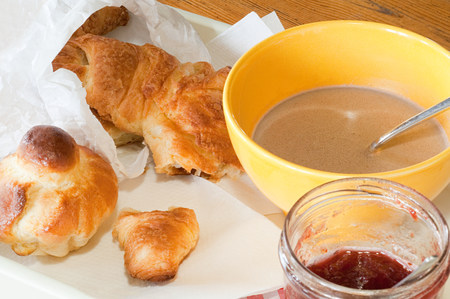 unfit: Brioche, croissant and hot chocolate